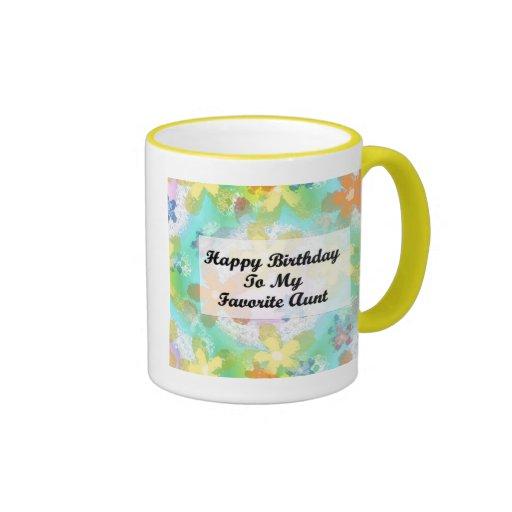 Feliz cumpleaños a mi tía preferida taza