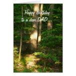 Feliz cumpleaños a un estimado Papá-Bosque Light Felicitacion