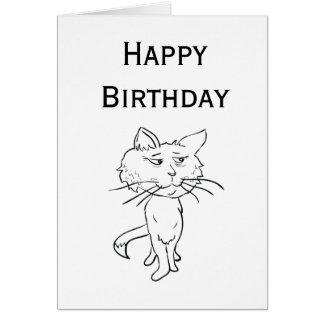 Feliz cumpleaños a un gato fresco felicitacion