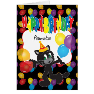 Feliz cumpleaños a un gato fresco tarjeta de felicitación