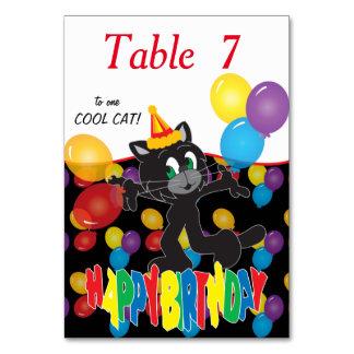Feliz cumpleaños a un gato fresco