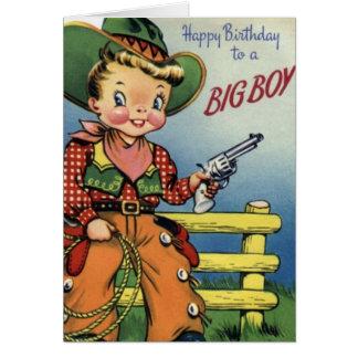 Feliz cumpleaños a un muchacho grande tarjeta de felicitación