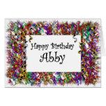 Feliz cumpleaños Abby Tarjetas