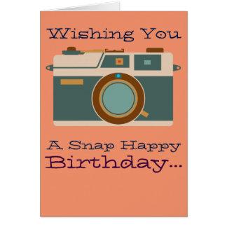 Feliz cumpleaños al amante de la fotografía del tarjeta de felicitación