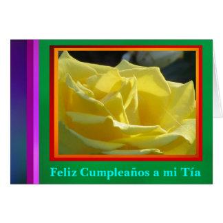 Feliz Cumpleaños al MI Tía - La Rosa Amarilla Felicitaciones