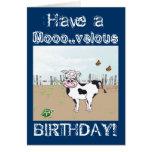 ¡Feliz cumpleaños al MOO! - Tarjeta del personaliz
