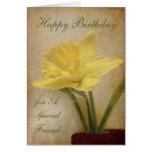 Feliz cumpleaños, amigo especial tarjeta de felicitación