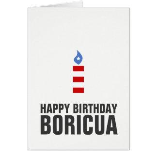 Feliz cumpleaños Boricua, Puerto Rico Tarjeta