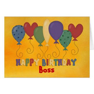 Feliz cumpleaños Boss, colorido Tarjeta De Felicitación