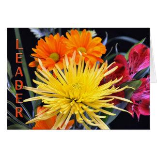 Feliz cumpleaños Boss floral Tarjetón