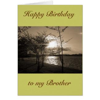 Feliz cumpleaños Brother de Brother/hermana Tarjeta