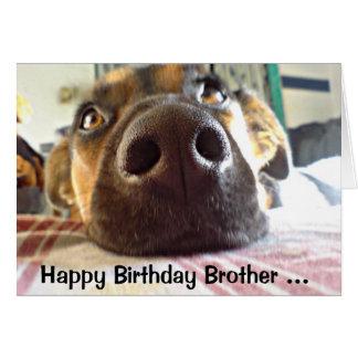 ¡Feliz cumpleaños Brother uno que miro para arriba Tarjeta De Felicitación