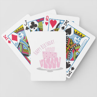 Feliz cumpleaños baraja cartas de poker