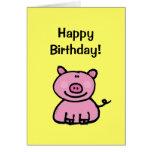 ¡Feliz cumpleaños! (cerdo) Felicitaciones