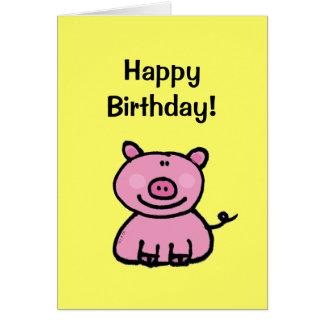 ¡Feliz cumpleaños cerdo Felicitaciones