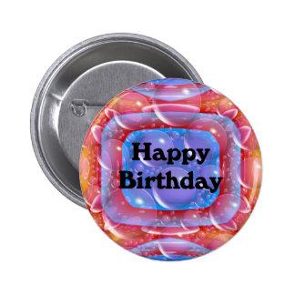Feliz cumpleaños chapa redonda 5 cm