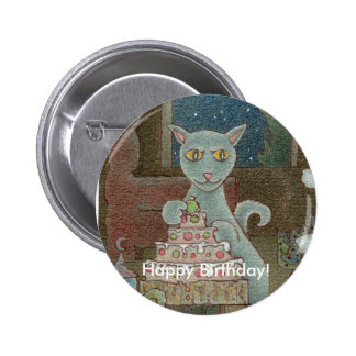 ¡Feliz cumpleaños! Chapa Redonda De 5 Cm