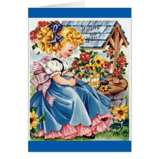 Feliz cumpleaños - chica joven tarjeta de felicitación