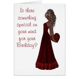 Feliz cumpleaños con cumpleaños rubio del adulto d felicitaciones