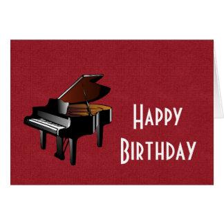 Feliz cumpleaños con ébano y marfil del piano tarjeta
