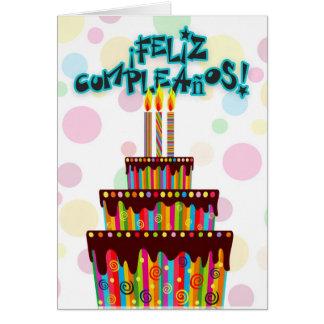 ¡Feliz Cumpleaños con el cumpleaños con gradas Tarjeta De Felicitación