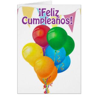¡Feliz Cumpleaños con los globos y el empavesado