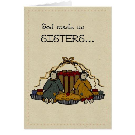 Feliz cumpleaños de 3278 hermanas tarjeta