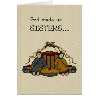 Feliz cumpleaños de 3278 hermanas tarjeta de felicitación