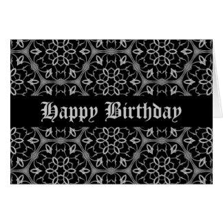 Feliz cumpleaños de la elegancia gótica tarjeta de felicitación