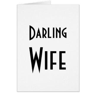 Feliz cumpleaños de la esposa querida tarjeta de felicitación