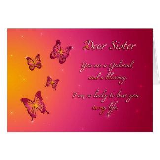 Feliz cumpleaños de la estimada hermana tarjeta de felicitación