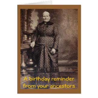 Feliz cumpleaños de la foto grosera del vintage felicitación
