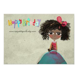 Feliz cumpleaños de la invitación de papel