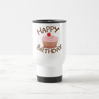 Feliz cumpleaños de la magdalena taza