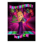 Feliz cumpleaños de la sobrina con pequeños vagos tarjetas