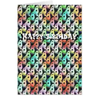 Feliz cumpleaños de la tarjeta barbuda del coro de