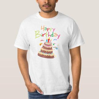 Feliz cumpleaños de la torta camisetas