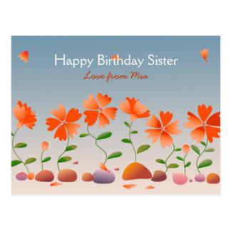 Feliz cumpleaños de las margaritas postales