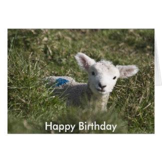 Feliz cumpleaños de mí a la oveja tarjeta