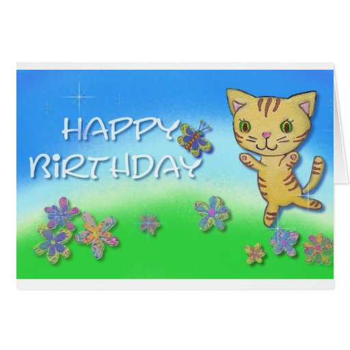 Feliz cumpleaños de un gato feliz del baile felicitaciones