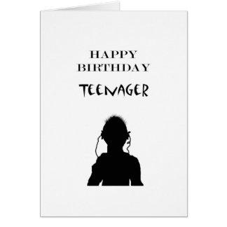 Feliz cumpleaños del adolescente, tarjeta de felicitación