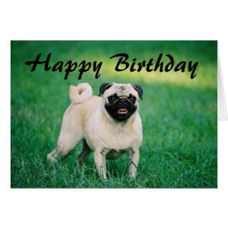Feliz cumpleaños del barro amasado tarjeta de felicitación