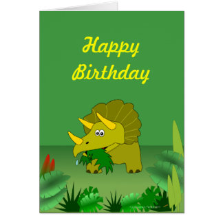 Feliz cumpleaños del dinosaurio adaptable del tarjeta