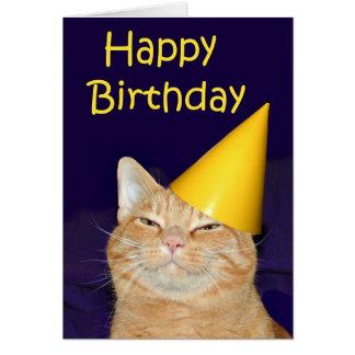 Feliz cumpleaños del gato feliz tarjetas