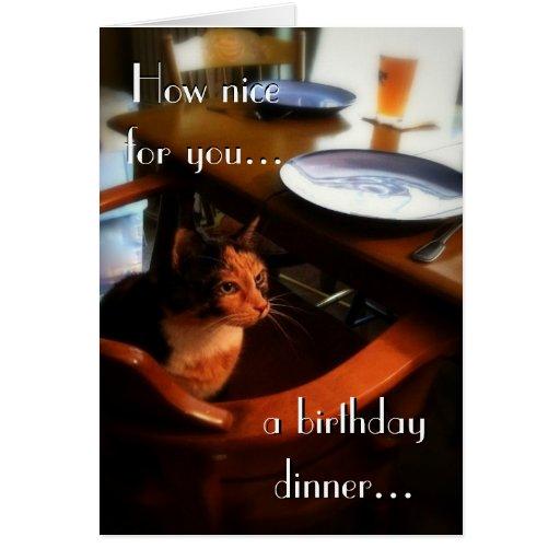 Feliz cumpleaños del gato reservado 2 tarjetas