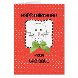 Feliz cumpleaños del gato tarjeta de felicitación