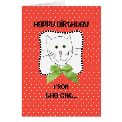 Feliz cumpleaños del gato tarjeta