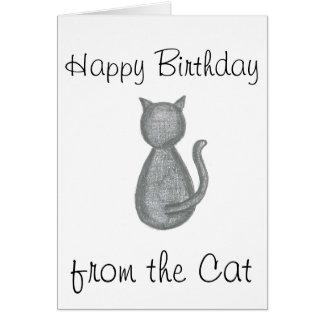 Feliz cumpleaños del gato - tarjeta de cumpleaños