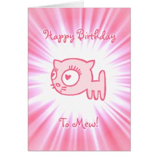 ¡feliz cumpleaños del Gato-uno-portero a maullar! Tarjeta