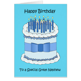 Feliz cumpleaños del gran sobrino tarjeta